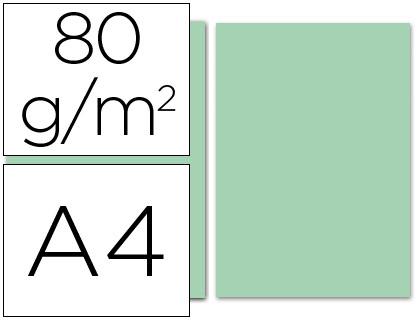 Papel verde A-4 80 grs. 100 hojas
