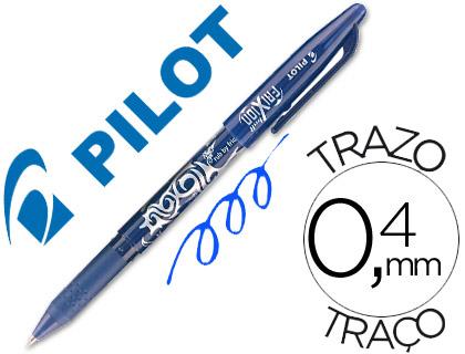 Bolígrafo tinta borrable Frixion Pilot azul