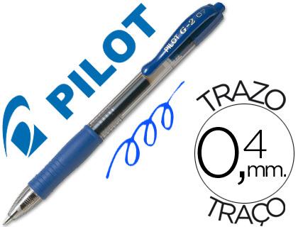 Boligrafo pilot g-2 azul tinta gel