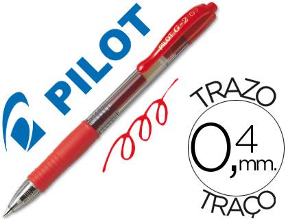 Bolígrafo Pilot G-2 tinta gel rojo