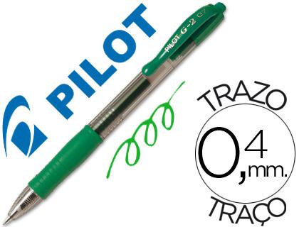 Boligrafo pilot g-2 verde tinta ge