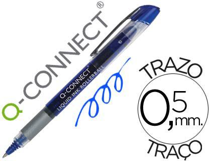 Bolígrafo azul tinta líquida Q-Connect