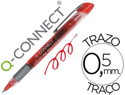 Bolígrafo rojo tinta líquida Q-Connect