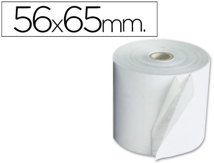 Rollo de papel tpv NORMAL 56 x 65 (envase de 10 unds)