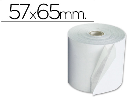 Rollo de papel tpv NORMAL 57 x 65 (envase de 10 unds)