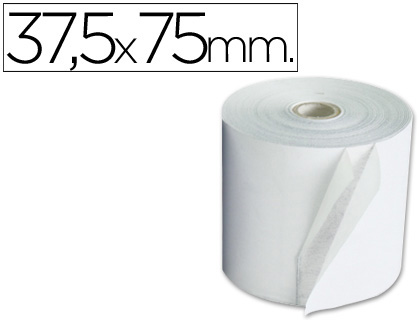 Rollo de papel tpv NORMAL 37,5 x 75 (envase de 10 unds)