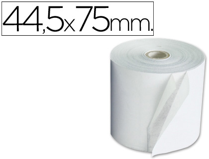 Rollo de papel tpv NORMAL 44,5 x 75 (envase de 10 unds)