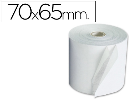 Rollo de papel tpv NORMAL 70 x 65 (envase de 10 unds)