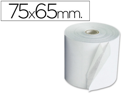 Rollo de papel tpv NORMAL 75 x 65 (envase de 10 unds)