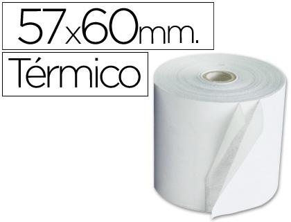 Rollo de papel TÉRMICO tpv 57 x 60 (envase de 10 unds)