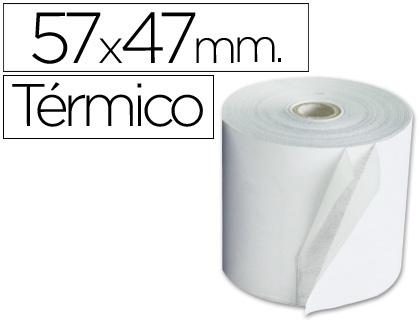 Rollo de papel TÉRMICO tpv 57 x 47 (envase de 10 unds)