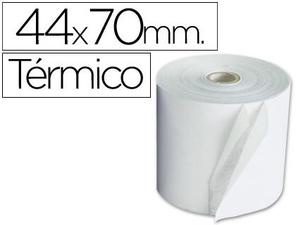 Rollo de papel TÉRMICO tpv 44 x 70 (envase de 10 unds)