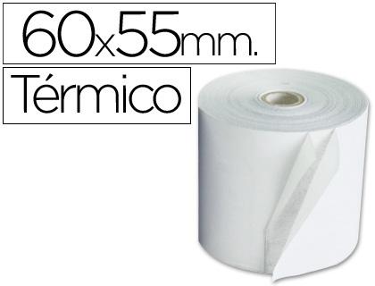 Rollo de papel TÉRMICO tpv 60 x 55 (envase de 10 unds)