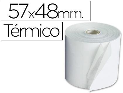 Rollo de papel TÉRMICO tpv 57 x 48 (envase de 10 unds)