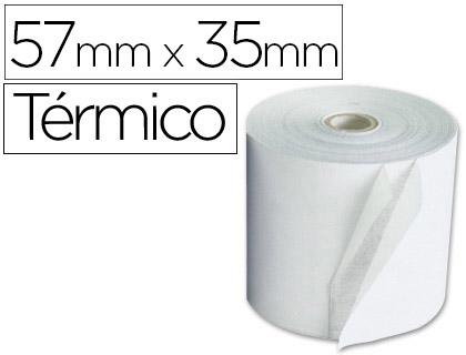 Rollo de papel TÉRMICO tpv 57 x 35 (envase de 10 unds)