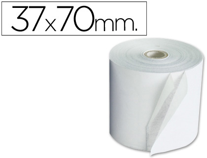 Rollo de papel tpv NORMAL 37 x 70 (envase de 10 unds)