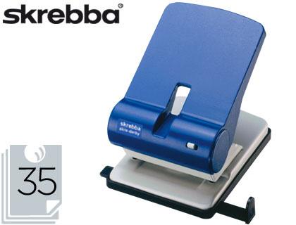 Taladrador skrebba perfo 4 814 azul -capacidad 35 hojas.