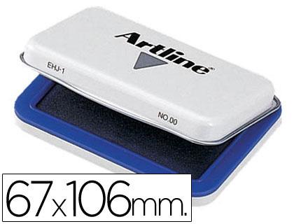 Tampon artline nº 1 azul -67x106 mm.