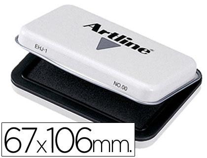 Tampon artline nº 1 negro -67x106 mm.