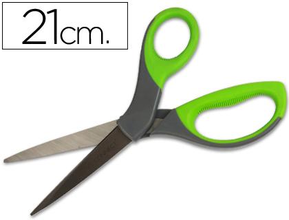 """Tijera q-connect mango caucho 8"""" 21 cm"""