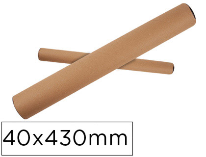 Tubo de carton q-connect portadocumentos tapa plastico 40x430 mm.