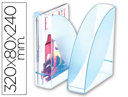 Revistero de plástico transparente ice blue Cep