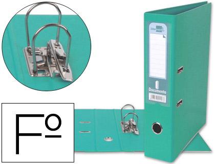 archivador de palanca verde agua