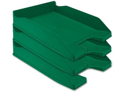 bandeja de sobremesa apilable verde
