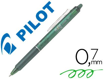 Bolígrafo borrable Pilot Frixion retráctil verde claro