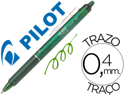 Bolígrafo borrable Pilot Frixion retráctil verde