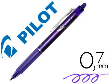 Bolígrafo borrable Pilot Frixion retráctil violeta