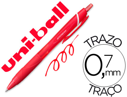 Bolígrafo Uni-Ball Jetstream SXN-157C rojo