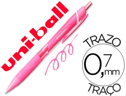 Bolígrafo Uni-Ball Jetstream SXN-157C rosa