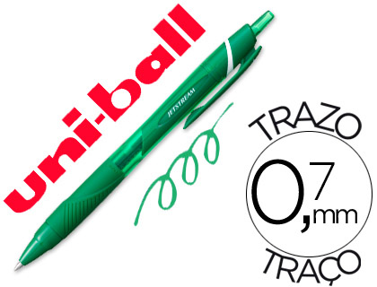 Bolígrafo Uni-Ball Jetstream SXN-157C verde