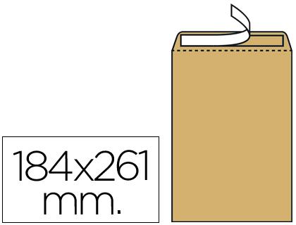 Sobre bolsa 184 x 261 mm Marrón Kraft Caja de 250