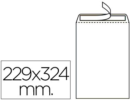 Sobre bolsa 229 x 324 mm.