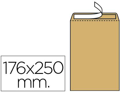 Sobre bolsa 176 x 250 mm Marrón Kraft Caja de 500