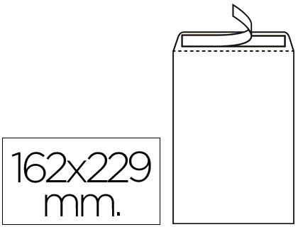 Sobre bolsa 162 x 229 mm blanco Caja de 500