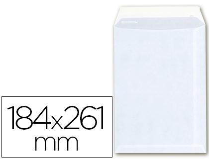 Sobre bolsa cuarto prolongado 184 x 261 mm.