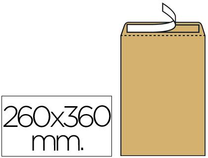 Sobre bolsa 260 x 360 mm Marrón Kraft Caja de 250