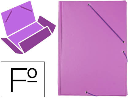 carpeta de gomas lila
