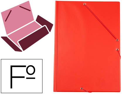 carpeta de gomas roja