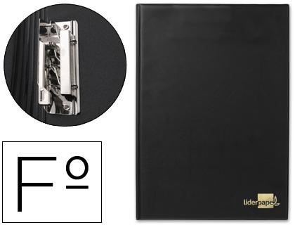 Carpeta con miniclip lateral folio negra