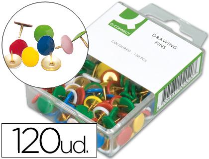 Chinchetas planas de colores (caja 120 unds)