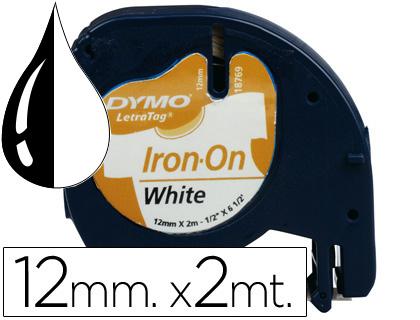 Cinta dymo 12mm para ropa maquina letratag.