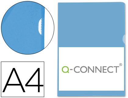 Dossier con uñero A4 azul (Paquete 100 unds)