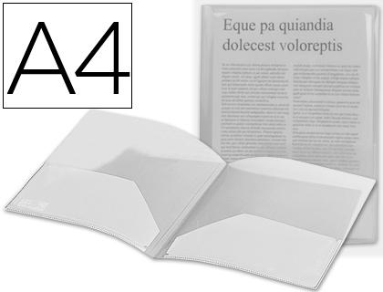 Dossier transparente con doble bolsa