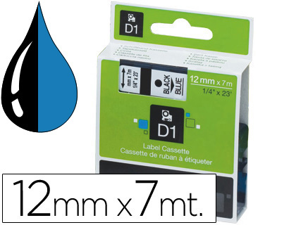 Cinta dymo 1000 negro-azul 12mm x 7mt d1.
