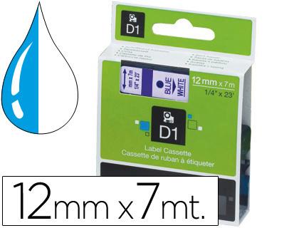 Cinta dymo 1000 azul-transp. 12mm x 7mt.