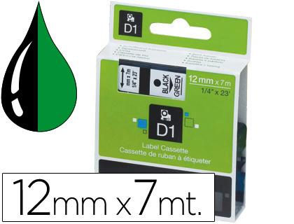Cinta dymo 1000 negro-verde 12mm x 7mt d1.